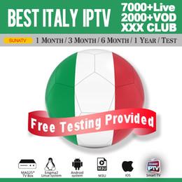 Appareil android hdmi en Ligne-Abonnement Iptv avec plus de 500 HD Italie en direct pour Smart TV M3U Mag Box Périphérique Android Essai Gratuit Abonnement Iptv Avec xxx Chaînes