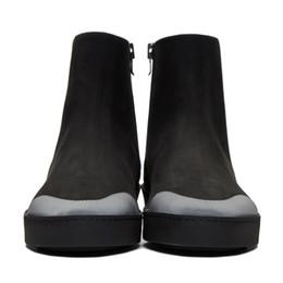 2020 sapatos casuais casual zipper Hot Sale-nuine camurça Handmade Shoes Homens Winter Designer Mens Zipper Botas Casual 13 # 25 / 20D50 desconto sapatos casuais casual zipper