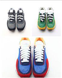 Resbalones amarillos online-Nuevo UNDERCOVER x Sacai LDV Waffle azul verde zapatos casuales Blazer With The Dunk Blanco Azul Amarillo Negro para hombre Sacai Toki Slip Designer Zapatos
