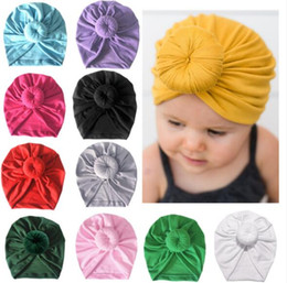 8239e07268f25 11 Colors Baby Boys Girls Caps Turban Head Wraps Toddler Soft Top Knot  Children Elastic Hats Infant India Hats Kids Beanie