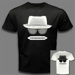 harmônica jazz Desconto Blues Jazz Popular Harpa Óculos Pretos Harmônica Chapéu T-Shirt C86 Impressão Personalizada Camiseta