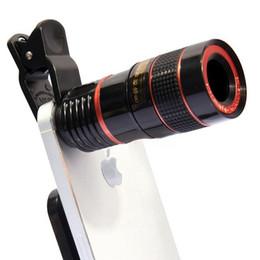 Zoom óptico lente para telemóvel on-line-12X Telefone Móvel Lente Da Câmera Externa Universal Clipe Telescópio HD Lente Teleobjetiva Substituição Tele Lente Kit de Telefone Celular Zoom Óptico