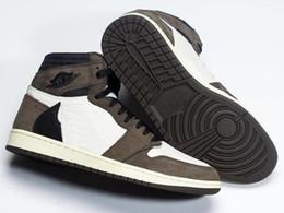 La mejor calidad 1 High OG Travis Scotts Cactus Jack Suede Dark Mocha TS SP 3M Zapatillas de baloncesto Hombre Mujer 1s Zapatillas Con Caja desde fabricantes