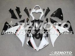 yamaha r1 carenagem preta Desconto Nova ABS molde motocicleta carenagens apto para Yamaha YZF-1000-R1 2012-2014 12 13 14 carenagem carroçaria definido preto de branco personalizado