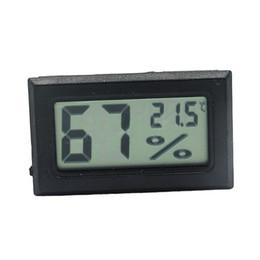 Canada Mini Noir Numérique LCD Température Humidité Humidité de la pièce intérieure Compteur Thermomètre Hygromètre Capteur de température Humidité Offre