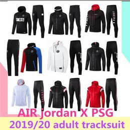 mejor camiseta de futbol blanca Rebajas 2019/20 AIR Jordan X PSG chaqueta con capucha Champions League Survetement 2019 2020 AIR Jordan PSG MBAPPE, chaquetas de fútbol soccer HOODI
