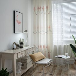 2019 tecido bordado chinês Fábrica de memória rosa vende diretamente chinês moderno cortina de imitação de algodão e tecido de cortina bordada de bambu desconto tecido bordado chinês