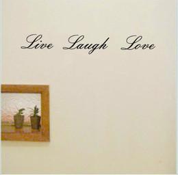 Viva, amor, riso, decoração on-line-Quote Wall Sticker Live Laugh Love Wall Decor removível vinil adesivo Palavras arte do decalque Início