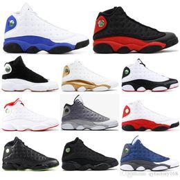 Nike AIR Jordan 13 Avec des chaussettes air libreJordanRétro bonne qualité 13 Bred Chicago Flint Atmosphère Hommes Chaussures de basket 13s Melo