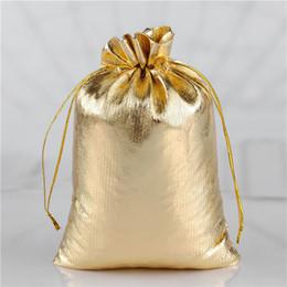 50pcs Or / Argent Couleur Cordon À La Poussière Pochettes Bijoux Cadeau Délicat Doux Doux Stronge Chaude Populaire Sac13x18cm 17x23cm ? partir de fabricateur