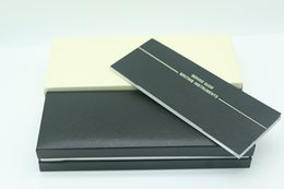Cajas de madera de lujo online-Diseño de lujo Marco de madera negro Caja de la pluma Para mb Pluma estilográfica / Bolígrafo / Roller Ball Pens Estuche de lápices con el Manual de garantía A8