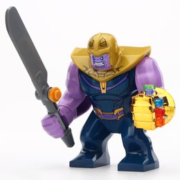 2019 grandes heróis Único Modelo Thanos Tamanho Grande Super Hero Bane Batman Venom Homem De Ferro Hulk construção Brinquedos para crianças grandes heróis barato