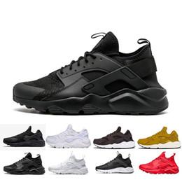 cheap for discount 0db5f ea657 HOT New NIKE air Huarache 3 III scarpe casual per donna uomo, nero bianco  rosso in pelle sneakers di alta qualità Huaraches scarpe sportive 36-45
