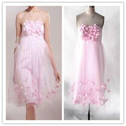Мини / Короткое платье невесты Розовое дешевое свадебное платье для гостей Выпускное платье Homecoming Dynamic Африканские платья невесты от