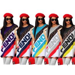 Femmes designer Long T-Shirt Dress Casual Sport Jupe F Lettre Imprimé À Manches Courtes T-shirts Tee Robes D'été Rayé Jupe Courte C436 ? partir de fabricateur