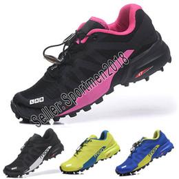zapatillas de deporte a prueba de agua para mujer Rebajas Designer shoes Salomon men women más nuevos para mujer Solomons Speedcross 5 CS Trail zapatos casuales zapatillas ligeras azul marino Solomon V zapatos impermeables mujer atléticos