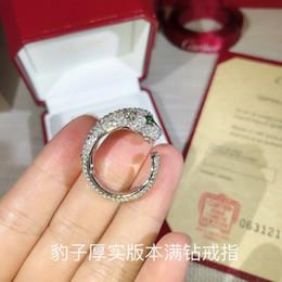 2019 tamaño del anillo topacio amarillo Moda del anillo del leopardo de las nuevas mujeres libres del envío 2019 que encanta exquisito eleganceat