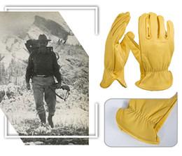2019 guanti meccanici xl Moda- Guanti da lavoro da uomo in pelle di capra Protezione di sicurezza Taglio di sicurezza Riparatore di lavoro Guanti da garage per uomo 0004 D18110705