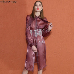 Back To Search Resultswomen's Clothing Whitney Wang 2019 Spring Autumn Fashion Streetwear Ribbons Bandage Blouse Women Blusas Shirt Tops