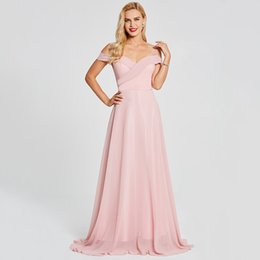 513be0d35b 2018 elegant royal blue chiffon long bridesmaid dresses off shoulder women  formal dress custom floor length sheer neck evening prom gowns