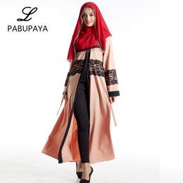 cb41fc57179 Long Shirt Skirt Large Size Women s Middle Eastern Clothing Turkish  Cardigan Muslims Abaya Dressing Gowns Maxi Robe