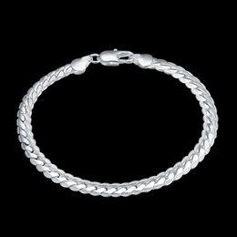 2019 último diseño de brazalete Charm Bracelet H199 Último diseño con clase Snake Chain Bracelet Fit silver Bracelet Bangle último diseño de brazalete baratos