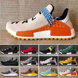 Adidas PW HU Holi NMD MC Menschliches Rennen HU nmd Pharrell Williams Trail Herren Designer Sport neutral Spikes Laufschuhe für Männer Turnschuhe Frauen Casual Trainer Schuh von Fabrikanten