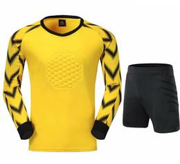 Chicos chaquetas amarillas online-El color amarillo camisa + cortocircuitos Niños Los niños hombres de la chaqueta de los chándales de fútbol del juego del fútbol chaqueta de entrenamiento Pantalones Top Portero jerseys Establece Uniformes