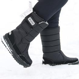 botas meias de meia calça zip Desconto botas plataforma de homens da neve impermeável tamanho Nylon Além disso, 45-47 Mens Mid bezerro botas de plataforma de pelúcia sapatos inverno quente Preto T191018