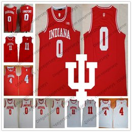 Chemises rouges basket en Ligne-2019 NCAA Indiana Hoosiers # 0 Maillot Romeo Langford 4 Oladipo 11 Thomas Victor Isiah Devonte Vert Rouge Blanc Basketball NO NAME Chemise