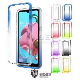 2021 oneplus one case tpu Gradient clair TPU souple pour LG K61 K51 5 MOTO G8 Stylo E7 Une action OnePlus 8 Pro Ultra mince couverture Noey