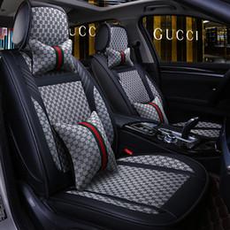 Coprisedili impermeabili online-Auto Car Cuoio Seat Covers Taglia universale Automobile coperture per Toyota Hyundai Kia Lexus BMW impermeabile interni auto