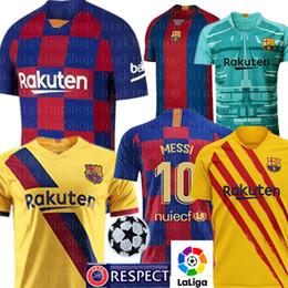 tailandia jersey de futebol ao atacado Desconto 2020 Barcelona 10 Messi Futebol SUAREZ MALCOM maillot de pé Barcelona jerseys PIQUE Dembele MAN crianças mulheres