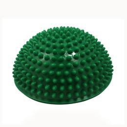appareil de massage Promotion Yoga demi-boule physique Fitness Appliance équilibre exercice des coussinets d'équilibre des tremplins de massage point balle GYM YoGa
