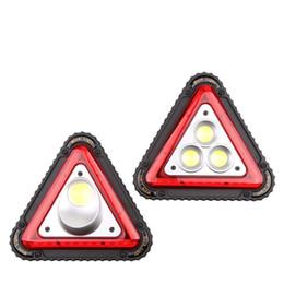 2019 luz de trabalho dobrável Trabalhando Luz de Aviso de Tráfego de Luz COB Multi-Função de Acampamento Portátil Lâmpada Placa de Falha de Estacionamento Perigoso Dobrável Três-de pé lâmpada desconto luz de trabalho dobrável