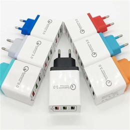 Handy-ladegerät online-Neue QC 3,0 Schnelle USB Wand Ladegerät Schnellladung 3,0 Multi Usb Handy Ladegerät 3 Ports EU US Tragbares Schnelles Ladegerät Handy DHL