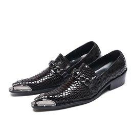 Vendita calda ne Gentleman del partito della pelle di affari degli uomini pattini di promenade Paty Alligator Stampa Party Wedding Shoes fase