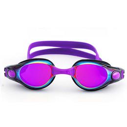 2019 occhiali blu rossi adulti Gli occhialini da nuoto per uomo e donna sono impermeabili, a prova di nebbia, elettrolitici e alla moda per tutti i tipi di occhiali da nuoto a forma di faccia