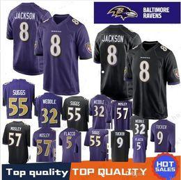 Baltimore Jerseys 8 Lamar Jackson 81 Hayden Hurst 5 Joe Flacco 32 Eric  Weddle 55 Terrell Suggs 18 Breshad Perriman Ravens Jersey Top shirt discount  joe ... 26cbf5086
