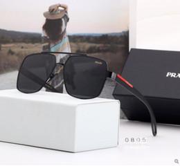 caso piloto vintage Rebajas Lentes polarizadas de alta calidad para gafas de sol de moda para hombres y mujeres Diseñador de marca Vintage Sport Gafas de sol Con estuche y caja
