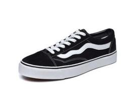 Zapatos casuales de lona online-2019 Classics Viejo Skool hombres de la lona de las mujeres de los zapatos ocasionales al por mayor y al por menor Negro clásico blanco del monopatín Zapatos