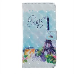 tower pro Promo Codes - 3D Paris Eiffel Tower Leather Wallet Case For Huawei Mate 20 X Pro P20 10 Lite Enjoy 7S P Smart Honor 6X Flower Tiger Skull Owl Flip Cover