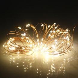 luces de navidad seguras Rebajas 10M 100 LED impermeable del USB del alambre de cobre de Navidad decoración de la secuencia Luz patio del jardín de cuerda de iluminación para el LED de cuerda