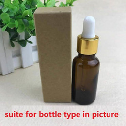 100pcs-10ml / 20ml / 30ml / 50ml / 100ml Boîte de papier Kraft noire et blanche pour une bouteille compte-gouttes d'huile essentielle vaporise un paquet de tubes ? partir de fabricateur