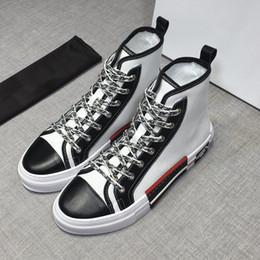 Novo atacado de Alta qualidade Francês Paris camurça homens de couro sapatos  casuais de alta top de moda tênis de marca de luxo homens formadores  rd18071904 2abd5a816b271