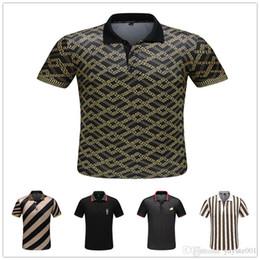 Мужские рубашки поло полиэстера онлайн-Модные мужские рубашки поло мужские роскошные повседневные рубашки поло полиэстер сплошной цвет повседневная Medusa POLO летние виды спорта большой размер M-3