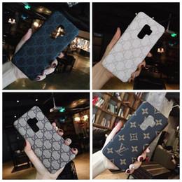 coque iphone luxus Rabatt Luxus-Leder-Kasten für iPhone X XS Max XR 8 7 6S Plus-Marke zurück Telefon-Abdeckung Schutz Coque für Samsung S10 Plus-S9 S8 Plus-Note 9 8 A06