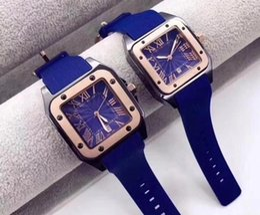 Frauen sehen sich transparent an online-Luxus Top Qualität Herrenuhr Kautschukband Quarzwerk Transparent Herren Designer Uhren Frauen Armbanduhr Freies Verschiffen Größe 39mm 34mm