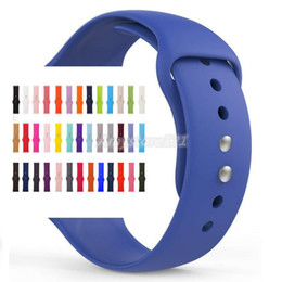 2019 reemplazar reloj Banda de silicona deportiva para el reloj de Apple Serie 4/3 / 2/1 Reemplace la pulsera Correa correa de reloj Correa de reloj para Apple reloj 42mm 38mm reemplazar reloj baratos