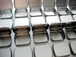 stagno stampato all'ingrosso Sconti Spedizione gratuita + scatola di latta di rettangolo di colore wihte all'ingrosso, scatola di metallo normale senza stampa, 200 pezzi / lotto